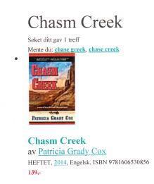 Norweigen Chasm Creek
